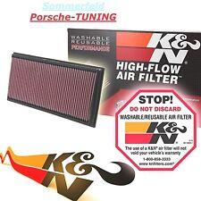 2 x Porsche Cayenne 955 957 958 K&N Sportluftfilter +40% Luftd. Sport Air Filter