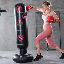 1.6m Inflatable Boxing Punching Bag MMA Kick Training Tumbler Sandbag For Adult