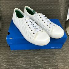 New listing Keds Kickstart Women's Sneakers Shoes Size 10 M Perforated Leather White WH56115