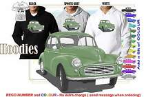 52-56 MORRIS MINOR SEDAN HOODIE ILLUSTRATED CLASSIC RETRO MUSCLE SPORTS CAR