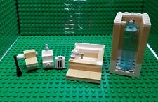 New lego Custom furniture bathroom toilet sink tub shower trash can plunger city