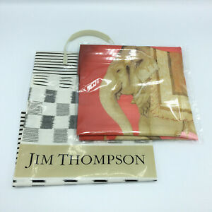 Jim Thompson Elegance Silk Red Pillow Case Cushion Cover Elephant NEW with Tag