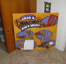 Taco Bell Chihuahua Store Promo Display with mounted items