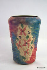 Floral Design Hand Painted Art Pottery Vase - Artist Signed and Dated