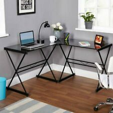 L-Shape Corner Computer Desk Table Study PC Laptop Workstation Wood Home Office