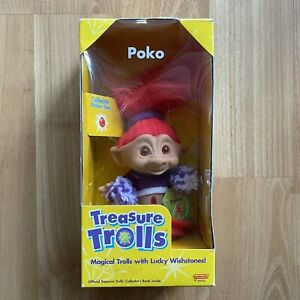Vintage Treasure Trolls POKO Cheerleader Troll - Galoob 1998 - NEW OLD STOCK
