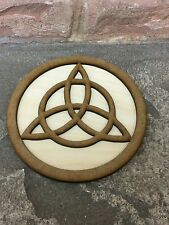 Triquetra Altar Tile Wiccan Wicca Wooden Altar Plate 12cm Paten Plaque Tools