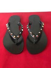 Valentino 'Rockstud' Flip Flop (Women) Size 39 1/2