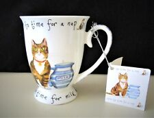 NEW KENT POTTERY CAT MUG A TIME FOR MILK TO LAP -- NEW