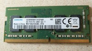 SAMSUNG 4GB 1RX16 PC4-2666V M471A5244CBO-CTD LAPTOP MEMORY RAM