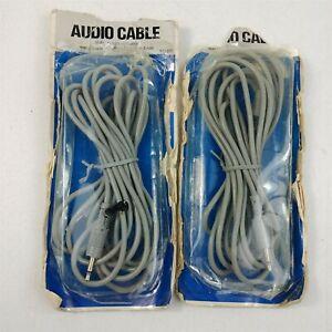 2 NOS Audio Cables 3.5MM 10 Foot Vintage AC-315