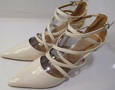 ASOS POTION Pointed Caged High Heels White US Size 9 NEW