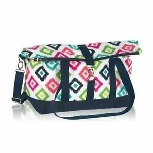 Thirty one Fold Over Weekender travel gym Duffel bag 31 gift Candy Corner