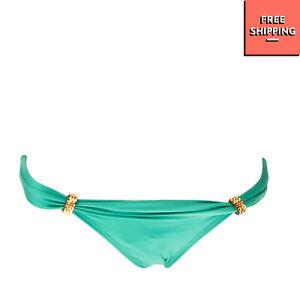 VIX PAULA HERMANNY Bikini Bottom Size XS Embellished Fully Lined