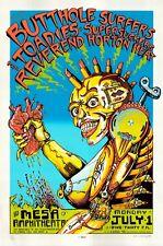 MINT/SIGNED/DOODLED Butthole Surfers RHH 1996 EMEK Mesa Silkscreen Poster