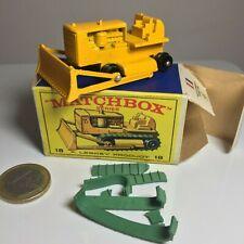 Matchbox Lesney #18 Caterpillar Buldozer (rubber tracks broken), between 60s/70s