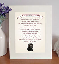 "Labrador (Black) 10"" x 8"" Free Standing 'Thank You' Poem Fun Gift FROM THE DOG"