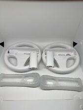 2 Nintendo Wii Steering Wheel Attachment (RVL-024) White