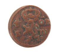 .NICE GRADE 1666 Sm SWEDEN 1/6 ORE COPPER COIN. CHARLES XI
