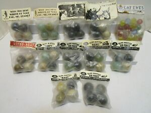 ALOX AGATES BAGGED SETS OF MARBLES ***12 NEW BAGGED SETS***