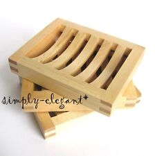 Set of 3 MOLGER Wood Soap Holder Soap Dish Solid Birch Molger Bathroom Kitchen