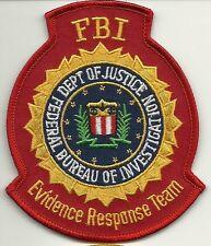 FBI: EVIDENCE RESPONSE TEAM (CSI-CSU) Erkennungsd. Police Patch Polizei Aufnäher