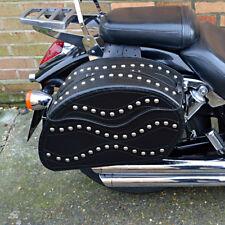 moto cuir noir Sacoches Sacoche HONDA VTX 1300 1800 Shadow (C15B)