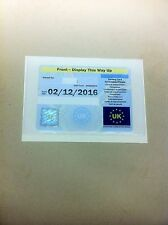 HOLDS A DISABILITY BADGE LARGE PARKING PERMIT HOLDER (L) SIZE 180 MM X 125 MM
