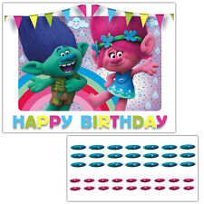 Trolls Movie Pin the Nose on Poppy and Creek Birthday Party Game