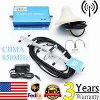 CDMA 850MHz Cell Phone Signal 3G 4G Repeater Booster Amplifier Extender+Yagi Kit