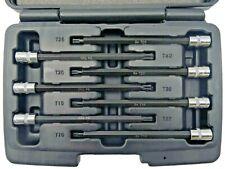 Welzh Werkzeug Torx T-Star Bit Socket Set BALL ENDED 7-Piece 1/4 130mm S2 STEEL