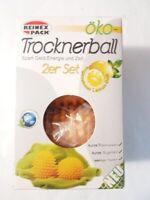 Reinex Pack Trocknerball 2er Set mit Lemonem Duft Spart Geld und Zeit Gelb