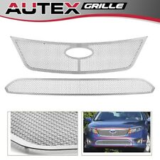 Stainless Steel Mesh Grille Grill Combo Insert Fits for Ford Fusion 2010-2011