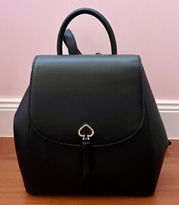 Kate Spade Adel Medium Flap Backpack in Black Leather- Excellent Condition!