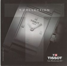 """1999 Tissot """"T-Collection-PRS-200"""" 8 Pg Catalog-Brochure-English-French-German"""