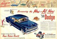 1952 Dodge 1953 model fun vintage decor  PRINT AD