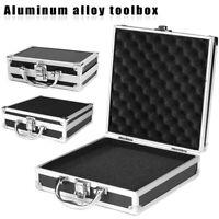 Aluminum Tool Box Storage Sponge Handheld Case Holder Organizer travel Container