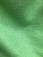APPLE GREEN 100% LINEN FABRIC (60 in.) Sold By The Yard