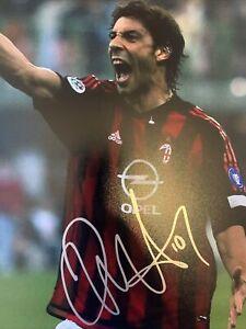 Rui Costa Signed 10x8 Photo AC Milan Legend