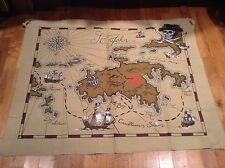 Pottery Barn Kids Large Canvas Pirate Wall Map/ Bedroom Decor