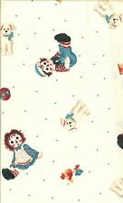 """OOP!!RAGGEDY ANN/ANDY TOSSED TOYS COTTON FABRIC FQ - 18""""X22"""""""