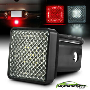 """W/Running/Brake/Reverse Red/White LED Towing Hitch Cover Light For 2"""" Receiver"""