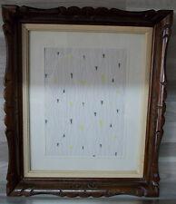 Cadre ancien bois beau feuillages bordures sculpté style Louis XV 23 cm X 29