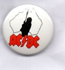 ACDC BUTTON BADGE Australian Rock Band Highway To Hell, Back In Black 25MM AC/DC