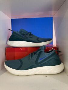 Mens Nike Sock Running Trainers Size Uk 10.5  Green Worn Once Gym Dart Roshe Run