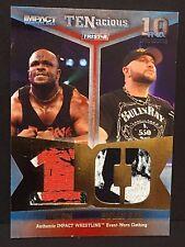 DEVON DUDLEY BULLY RAY 2012 Tristar TNA Impact DUAL Worn WRESTLING SHIRT #d /80