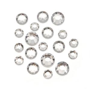 1000 Clear Crystal Rhinestones Acrylic Crystal Diamante Flat Back Gems Beads