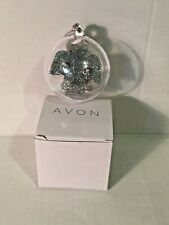 AVON Holiday Christmas Earrings in a Snowglobe Studs in Gift Box