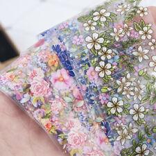10 Pcs Holographic Nail Foil Set Nails Flowers Art Film Floral Transfer Sticker