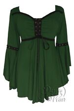 Dare to Wear OPHELIA Gothic Renaissance Corset Top GREEN Jr L Large
